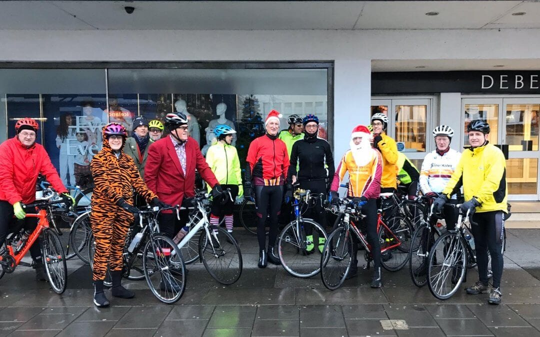 Fancy dress ride? Only if you count wet weather gear!
