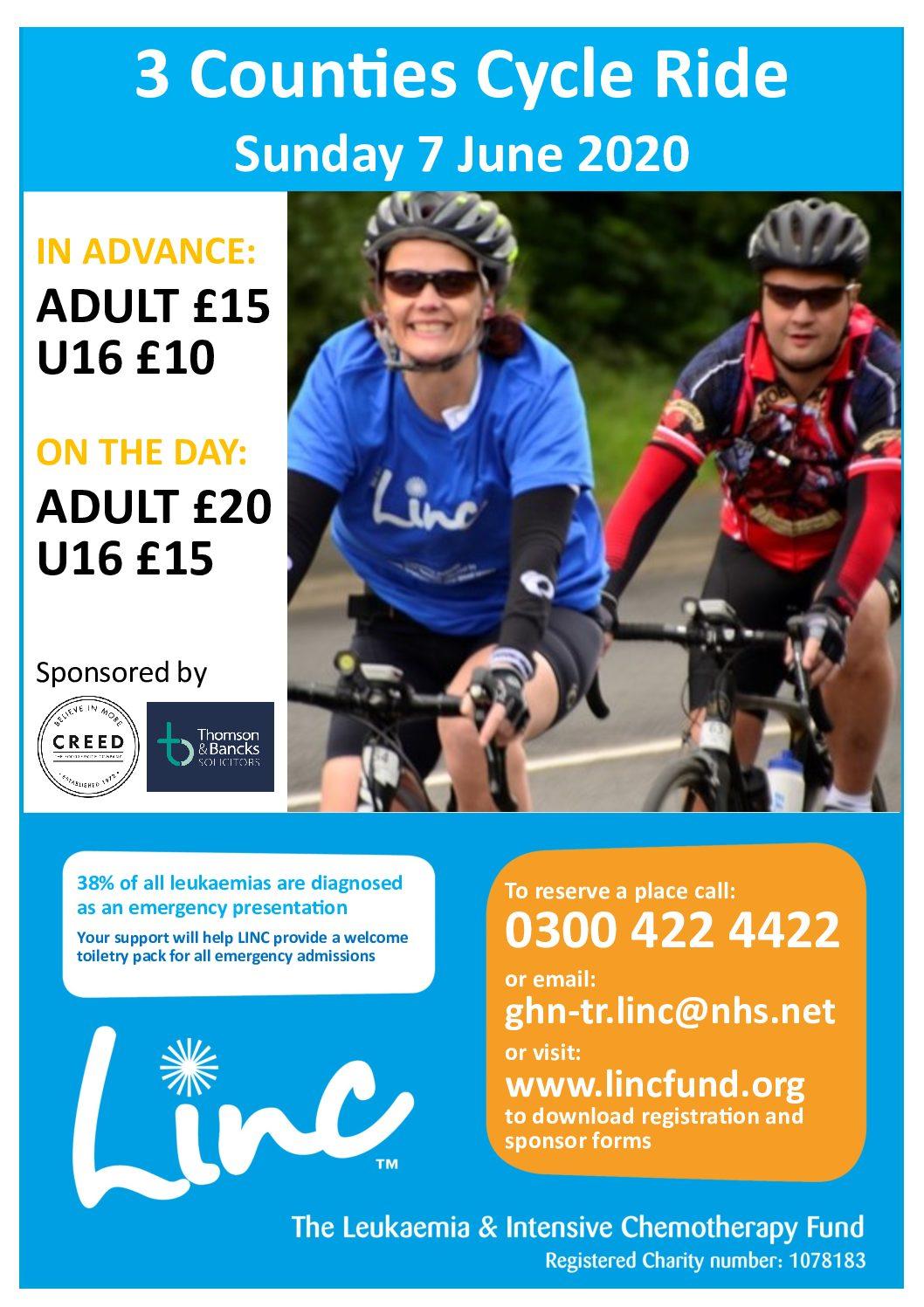 Leukaemia and Intensive Chemotherapy (LINC) charity ride